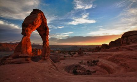 Moab Delicate Arch at sunset