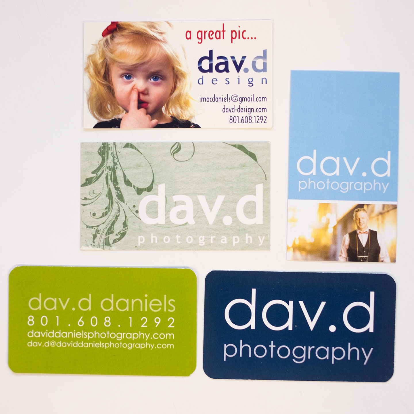 dav.d photograph business cards