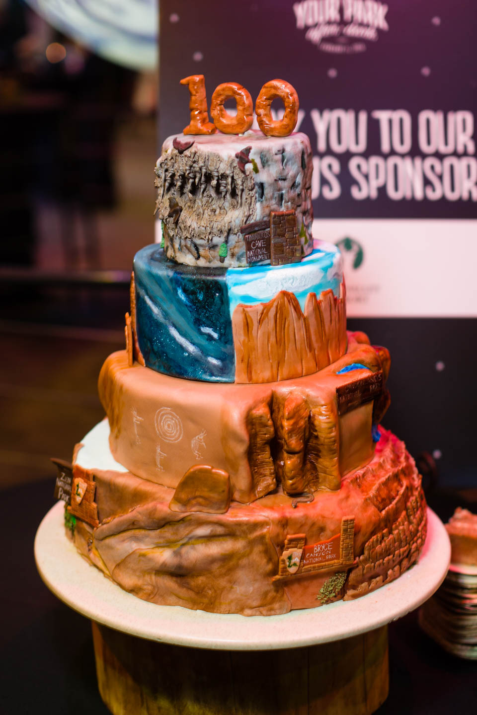 A really cool cake celebrating the National Parks