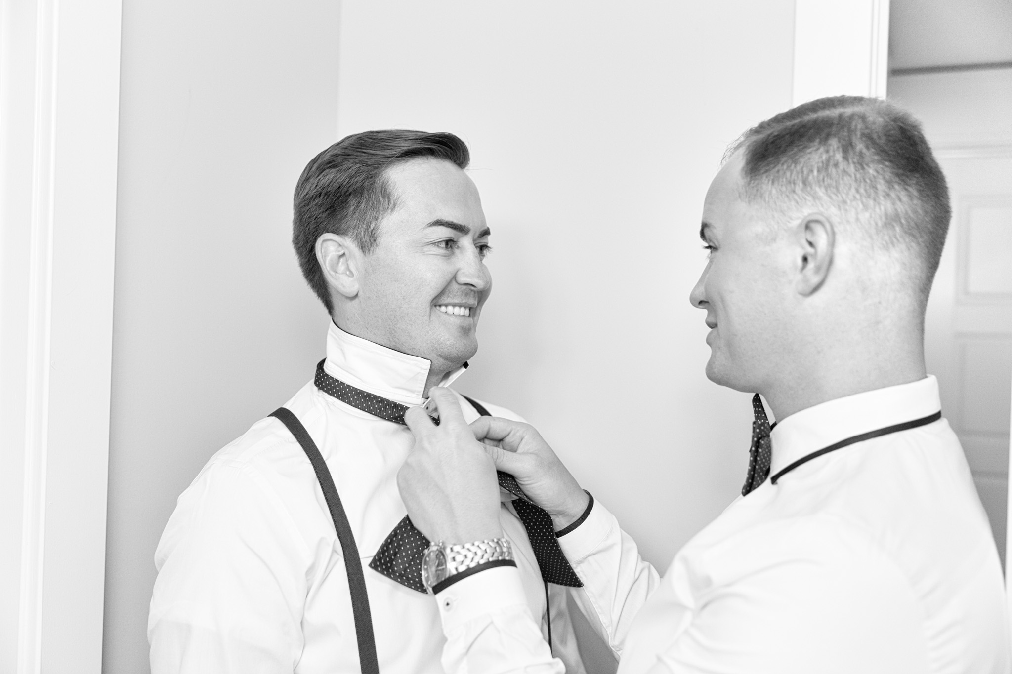 Tying the bow ties