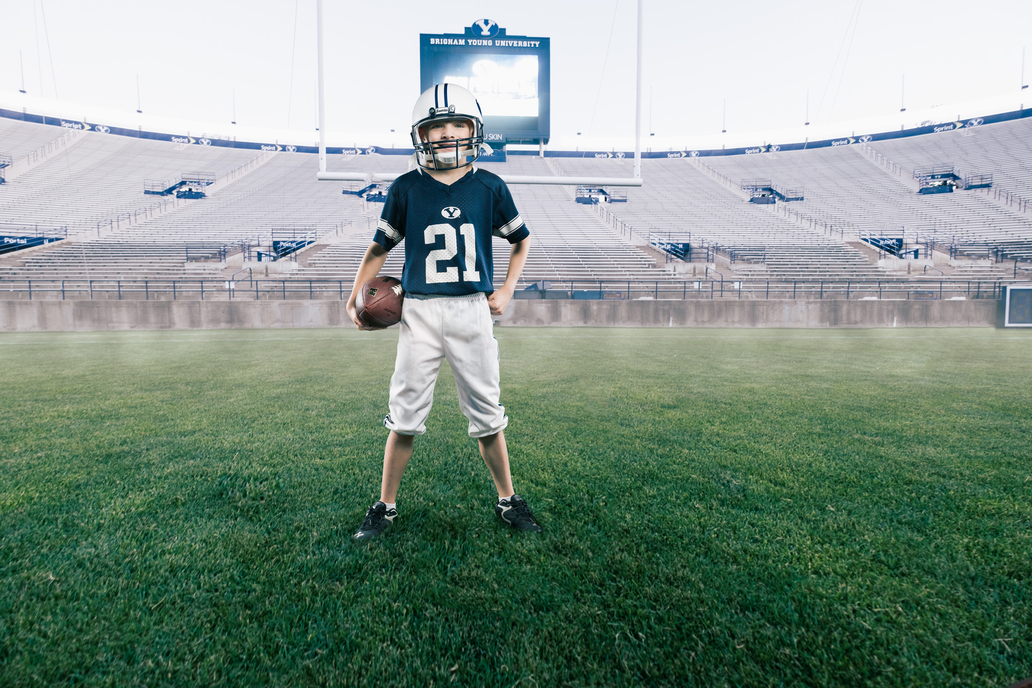Henry takes the football field with Photoshop