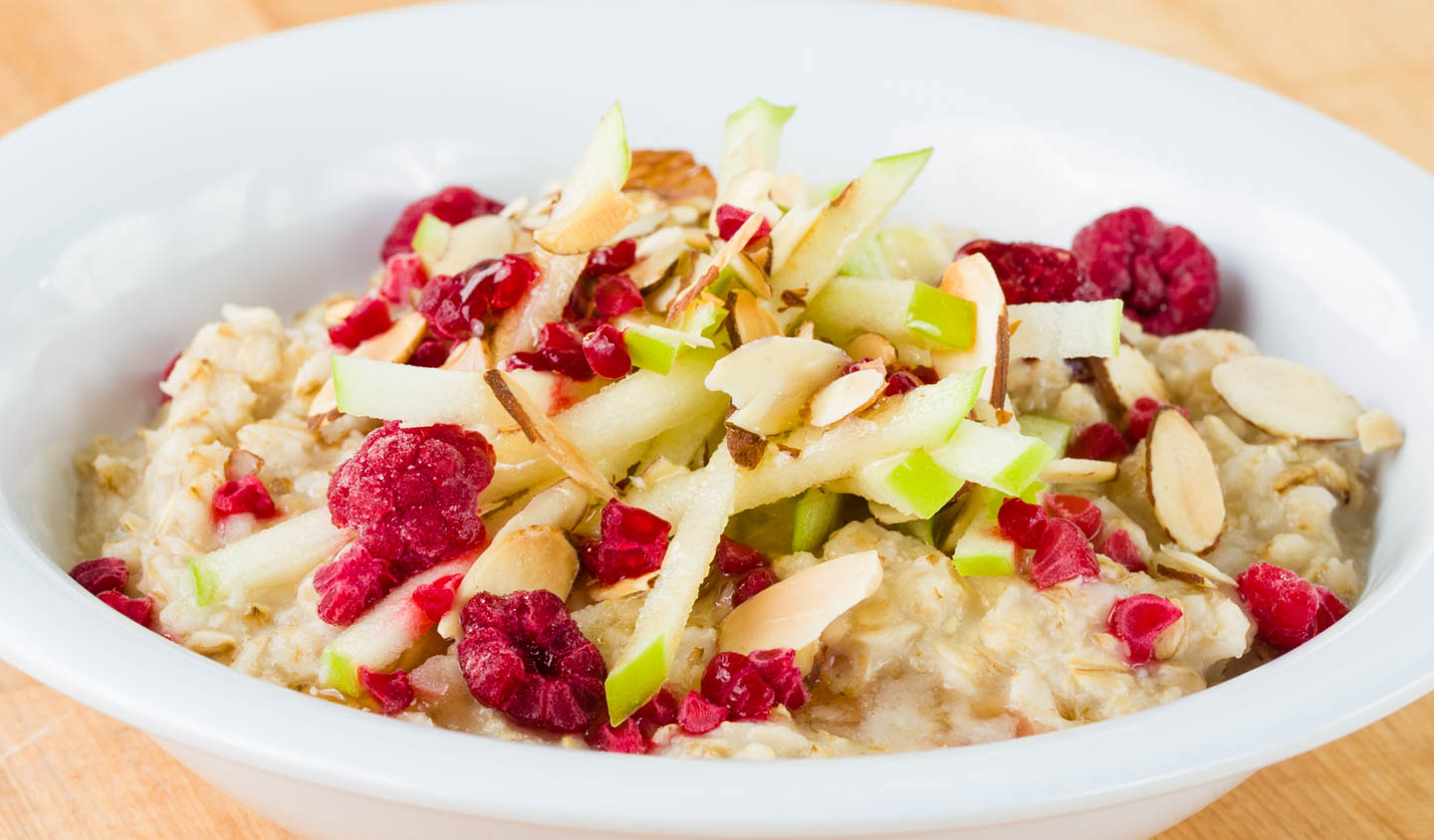 Raspberry Apple Almond Oatmeal
