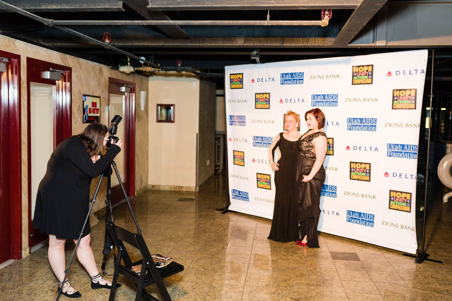 The Step and Repeat red carpet photo booth