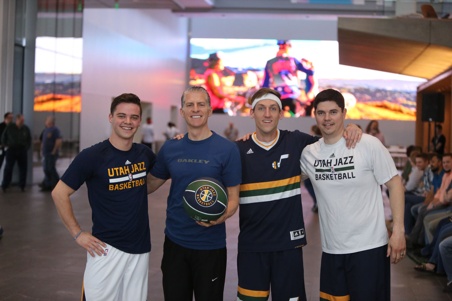 Utah Jazz Dunk Team visits Nu Skin