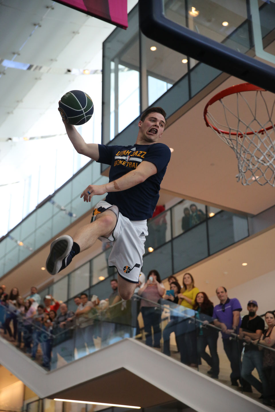Utah Jazz Dunk Team perform amazing stunts