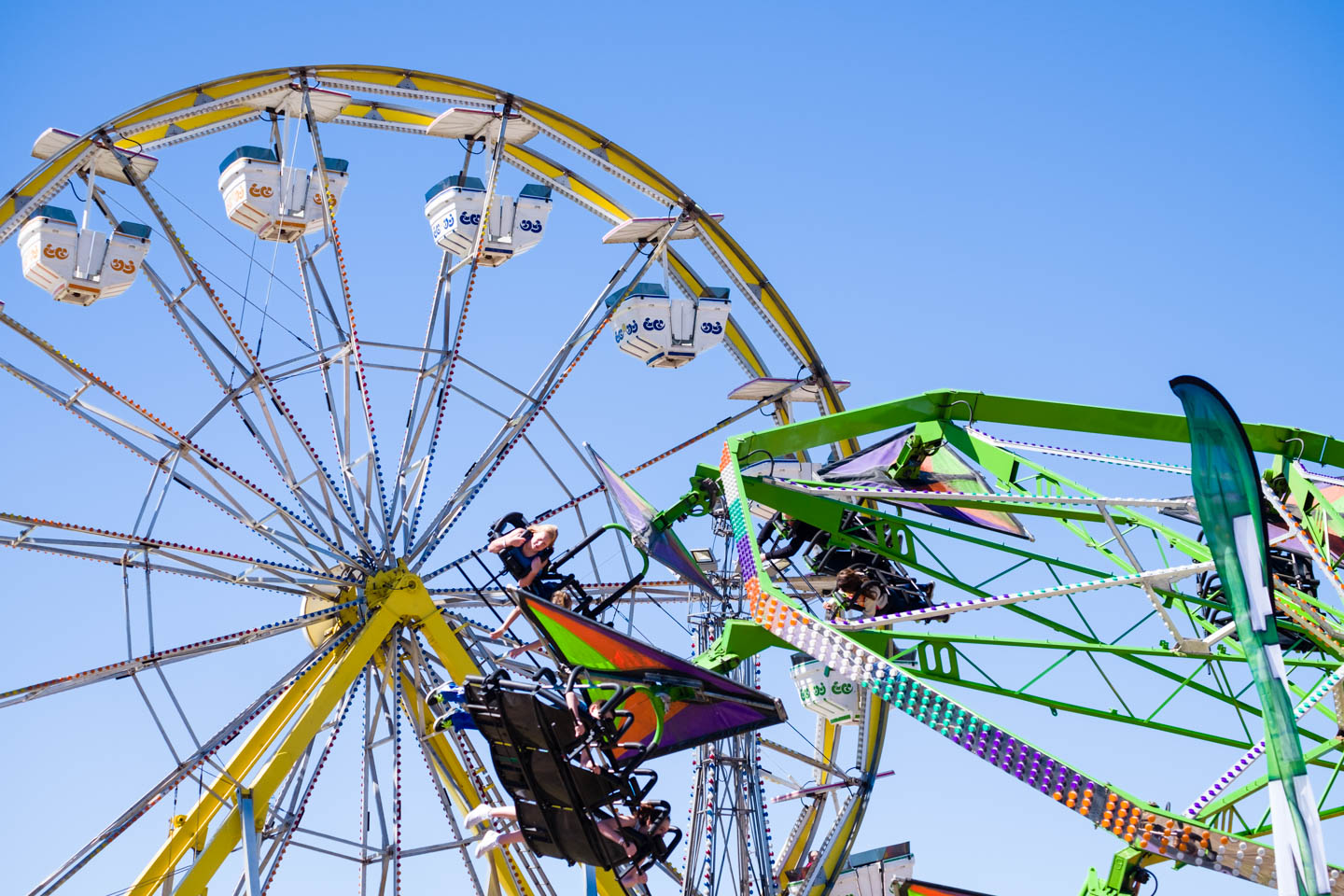 Rides at the Utah State Fair