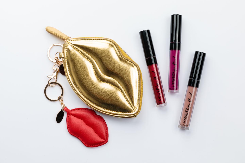 Lip shades with a lip purse