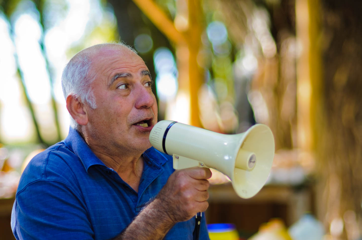 Communication with a bullhorn