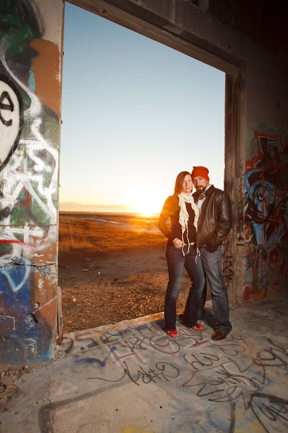 Sunset and couple portraiture