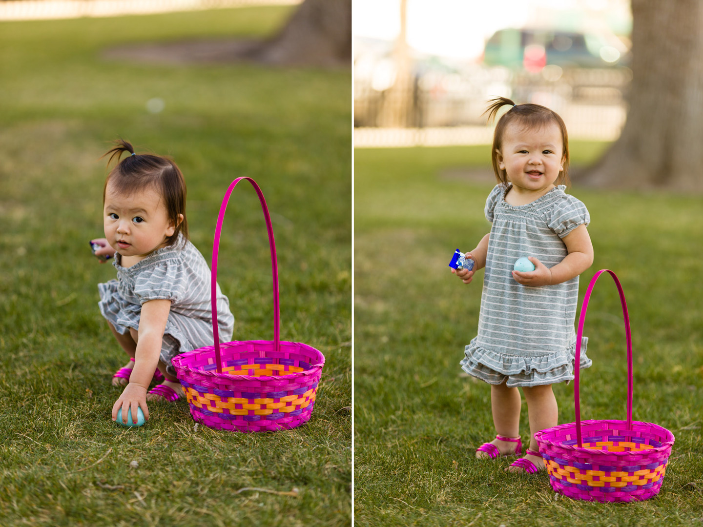 Sophie goes easter egg hunting
