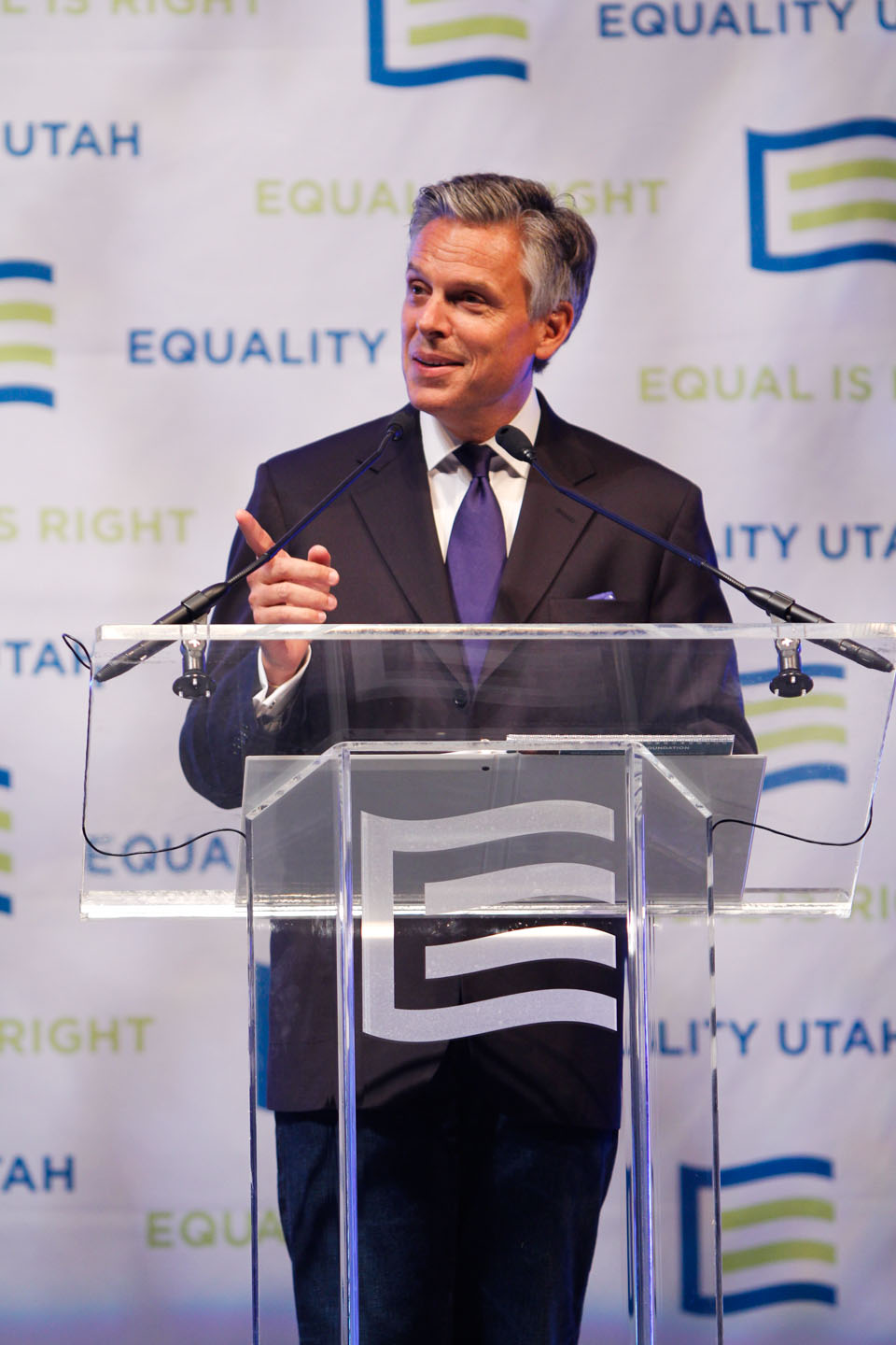 Governor Jon Huntsman addresses Equality Utah