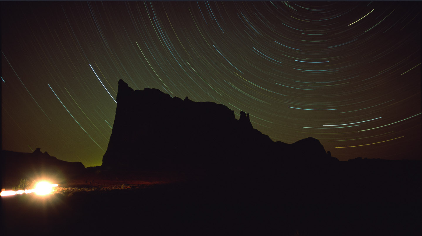 Star Trails over the Organ in Moab