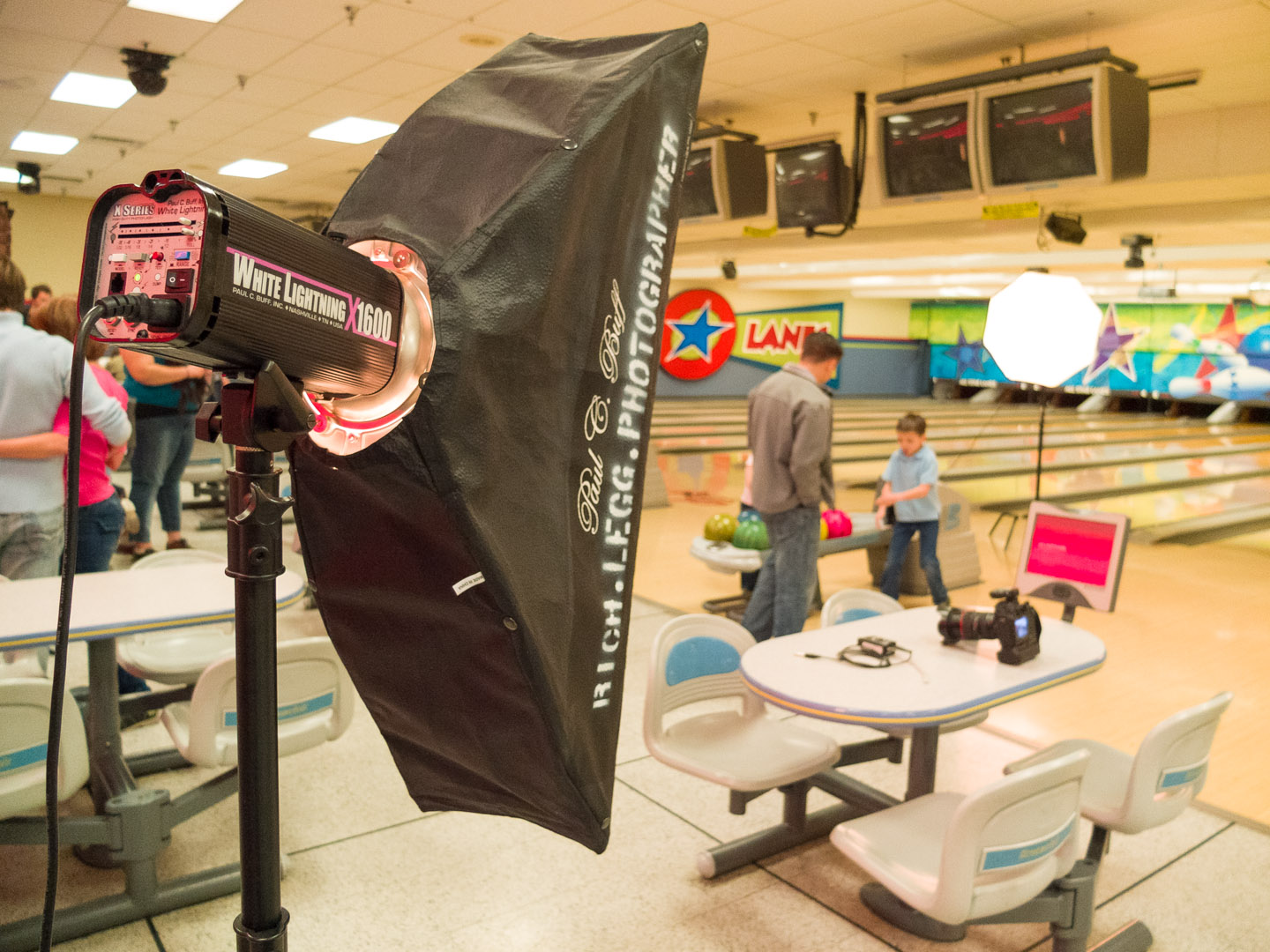 Lighting a bowling photo shoot