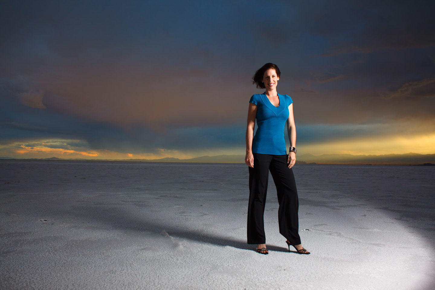 Storm on Salt Flats perfect for portrait