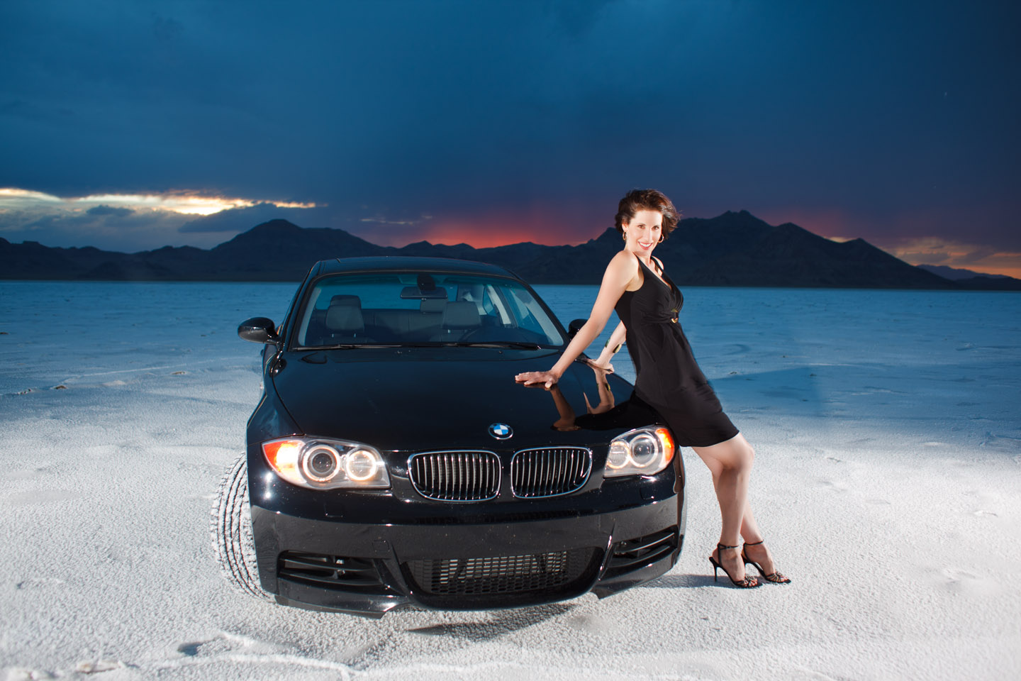 brenda a bmw and bonneville salt flats