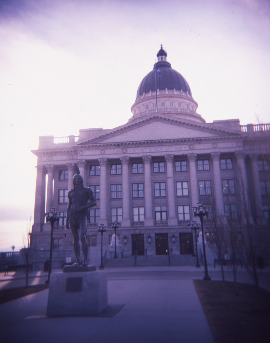 Utah State Capitol shot with a Plastic Toy Camera