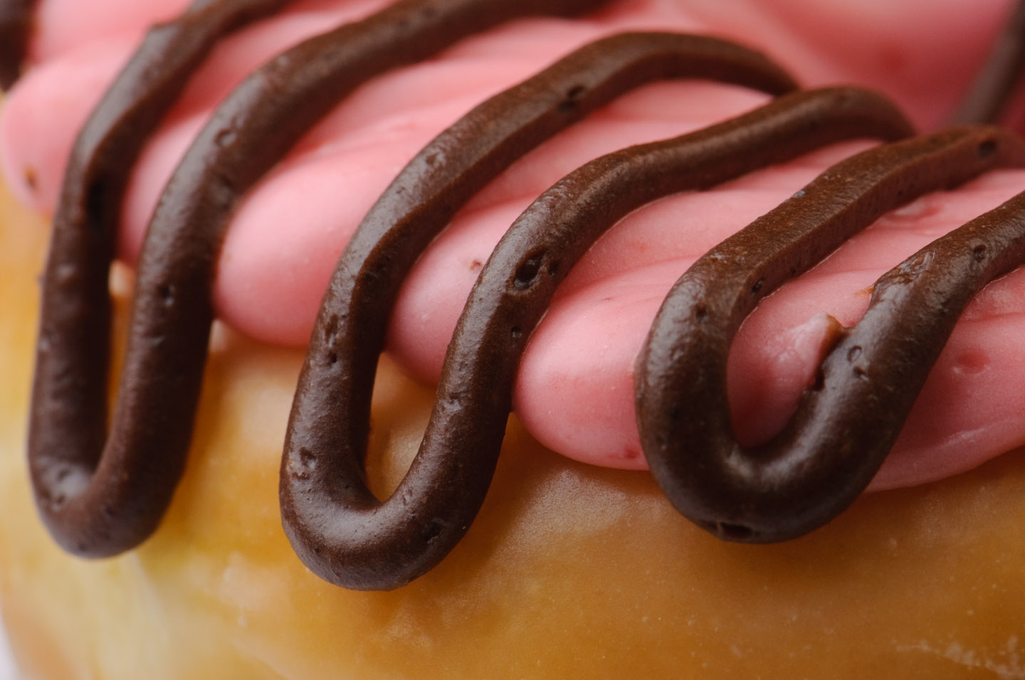 Pink and Chocolate Frosted Donut