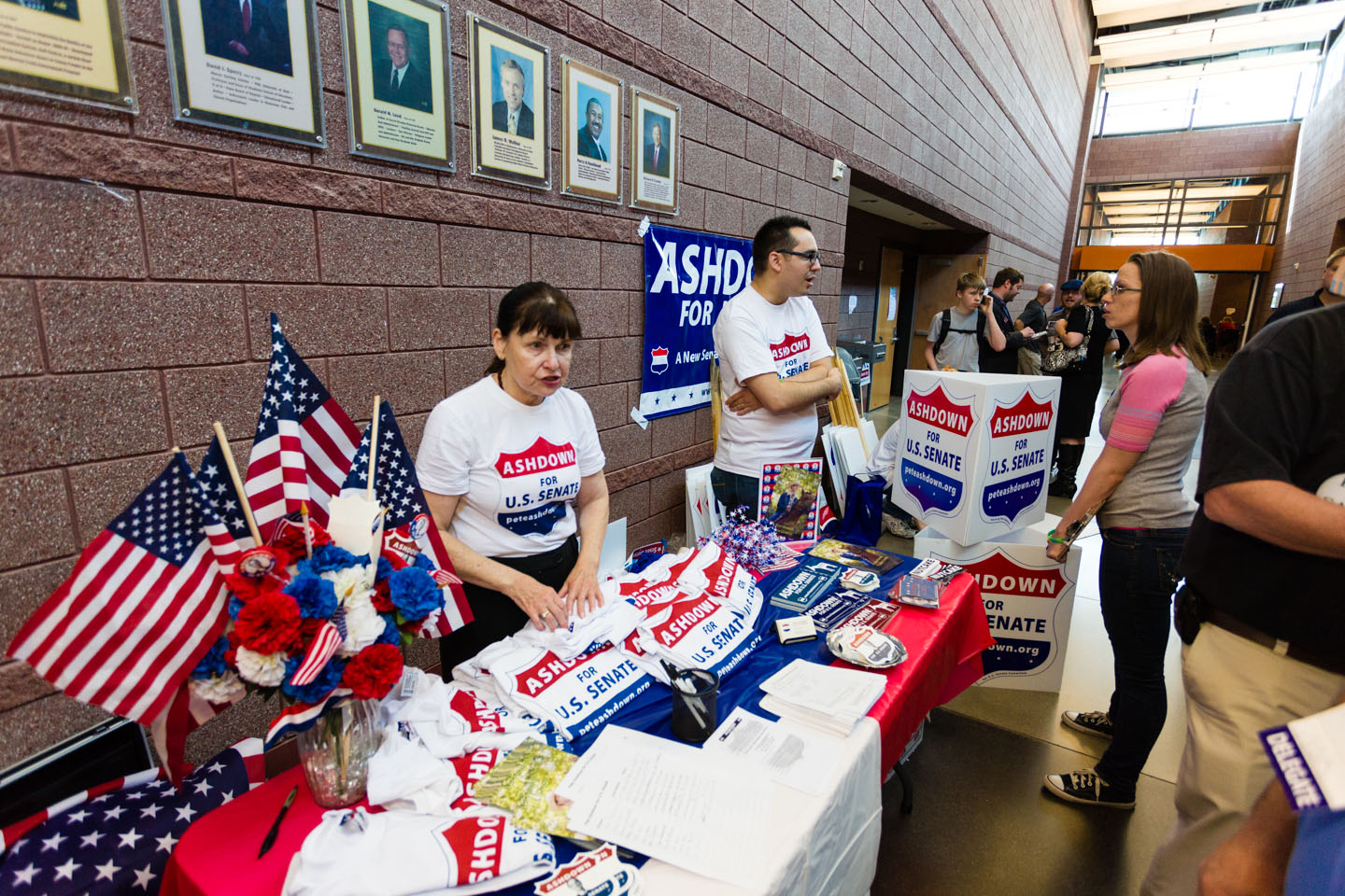 The booth for Ashdown for U.S. Senate
