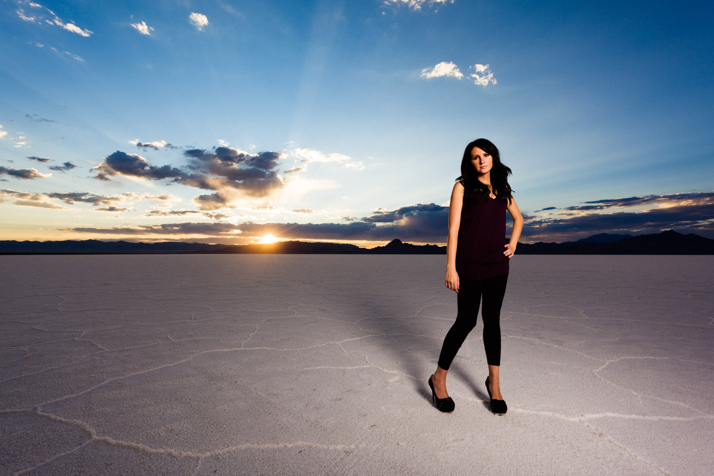 Shooting wide angle gives a great view of the Salt Flats