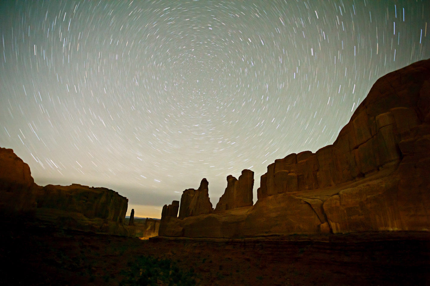David Daniel Star Trails Over Moab - Photography