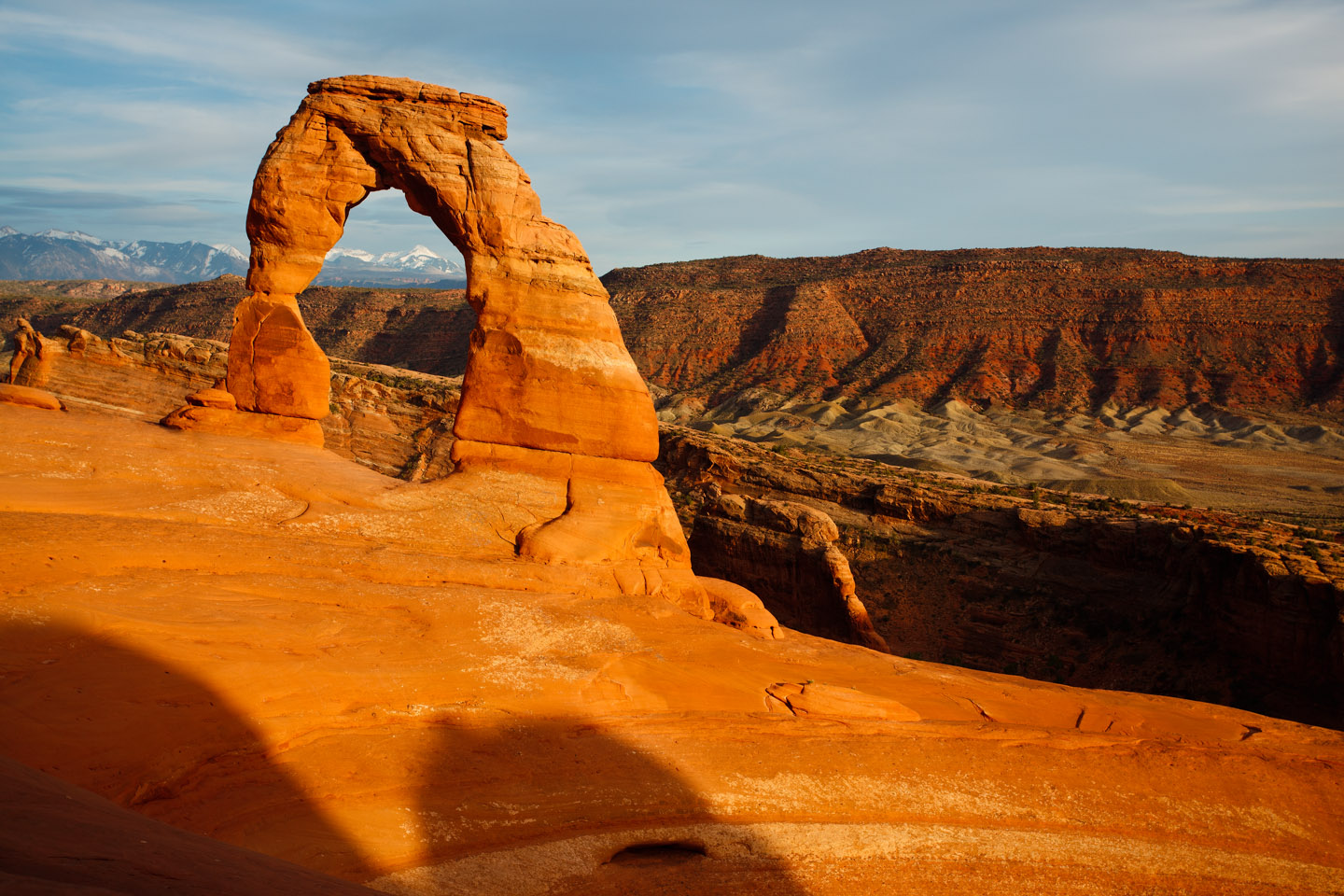 Afternoon sun on Moab Delicate Arch