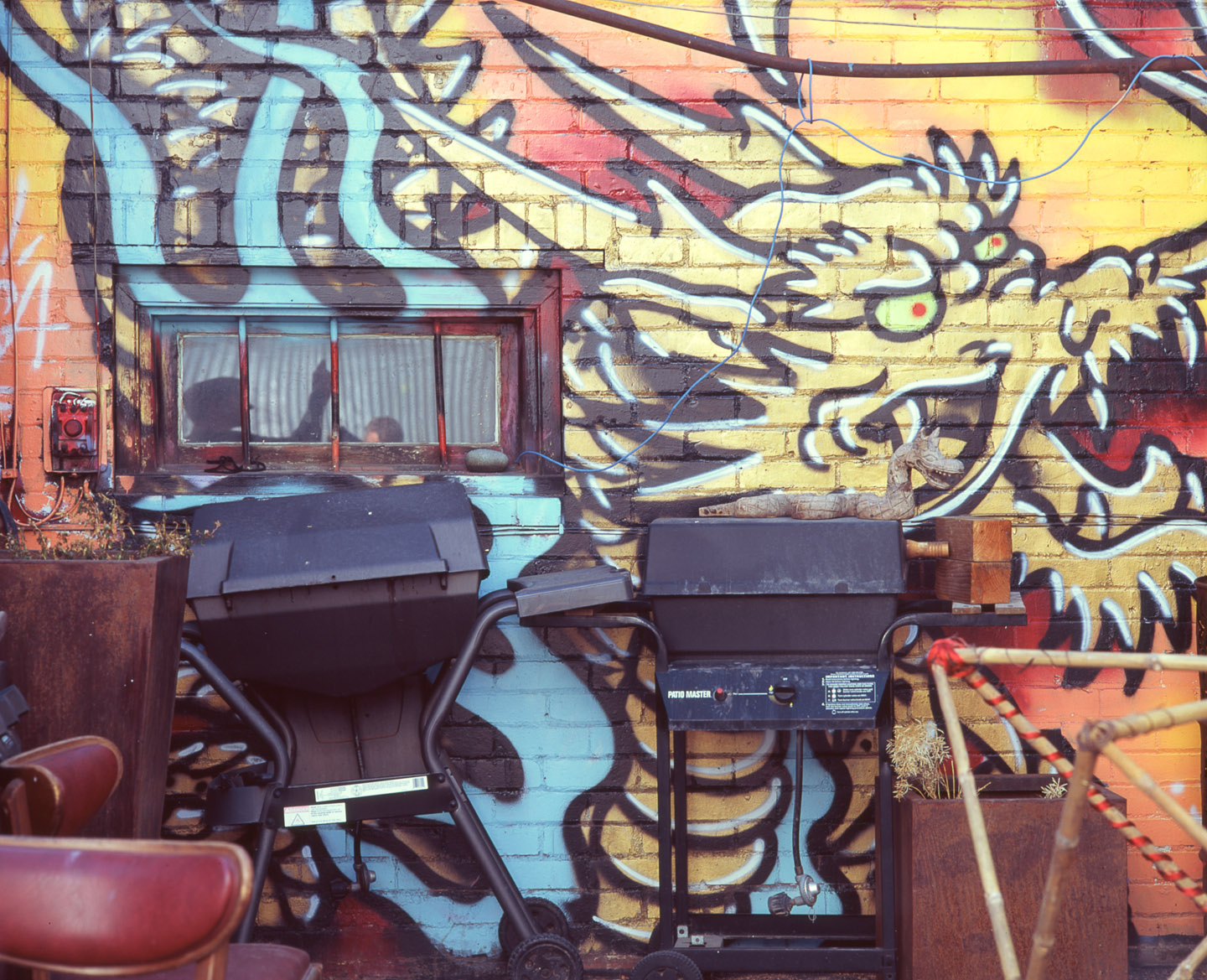 Graffiti and BBQ