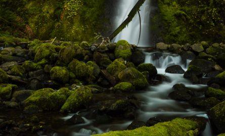 Waterfall known as Ruckel Creek Falls