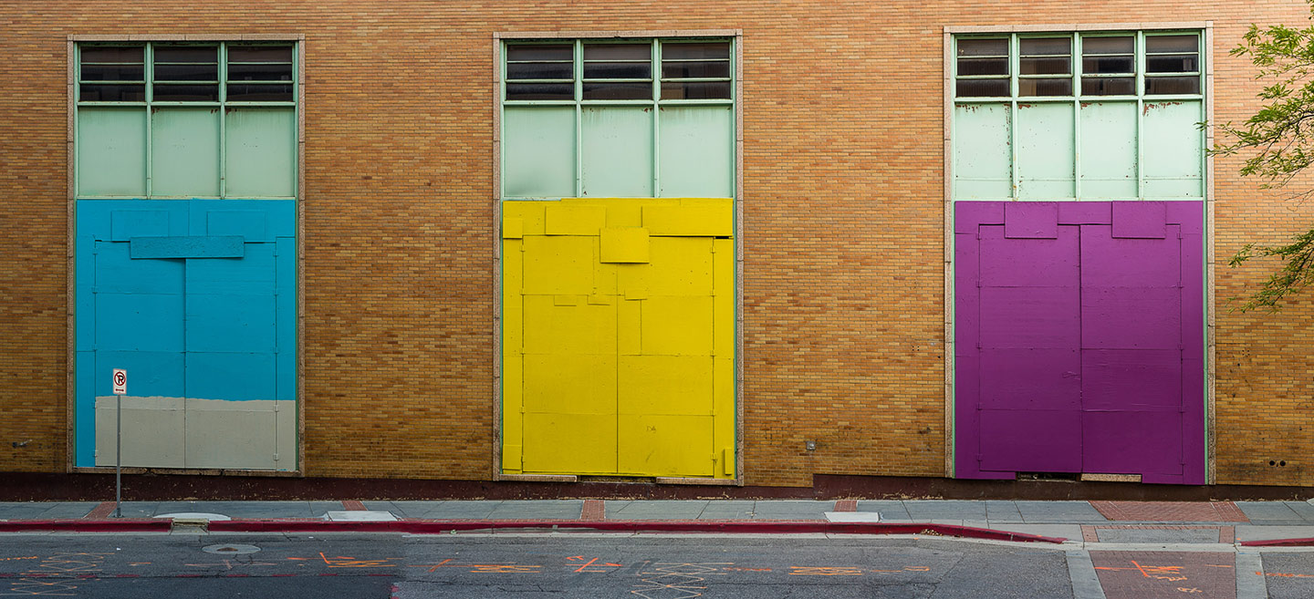 Colorful loading doors