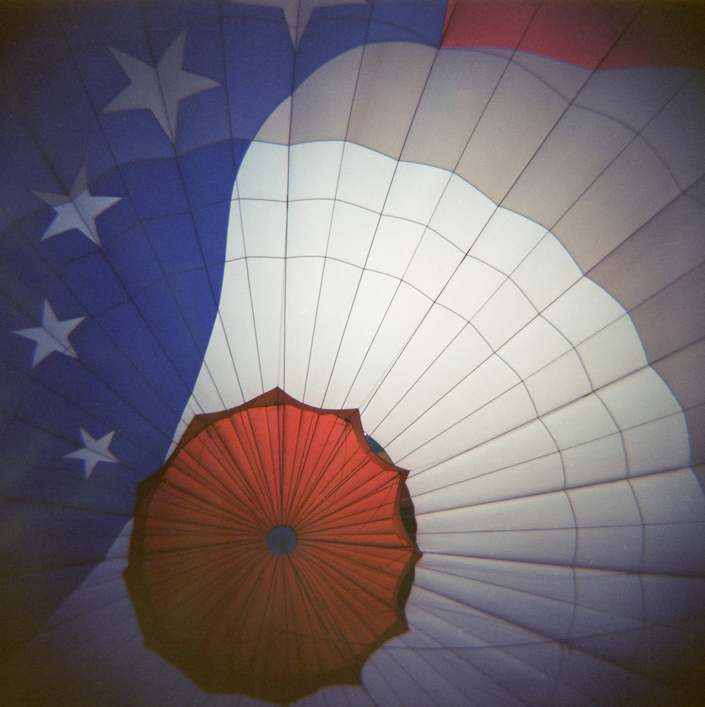 Inside the Stars and Stripes hot air balloon