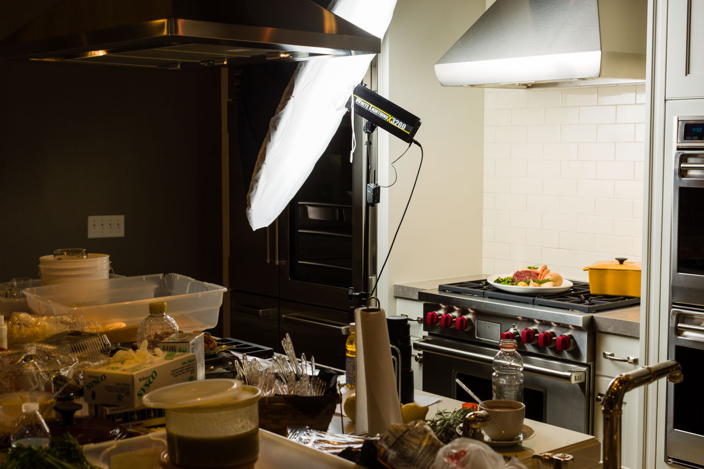Behind the scenes photograph of my food photo shoot