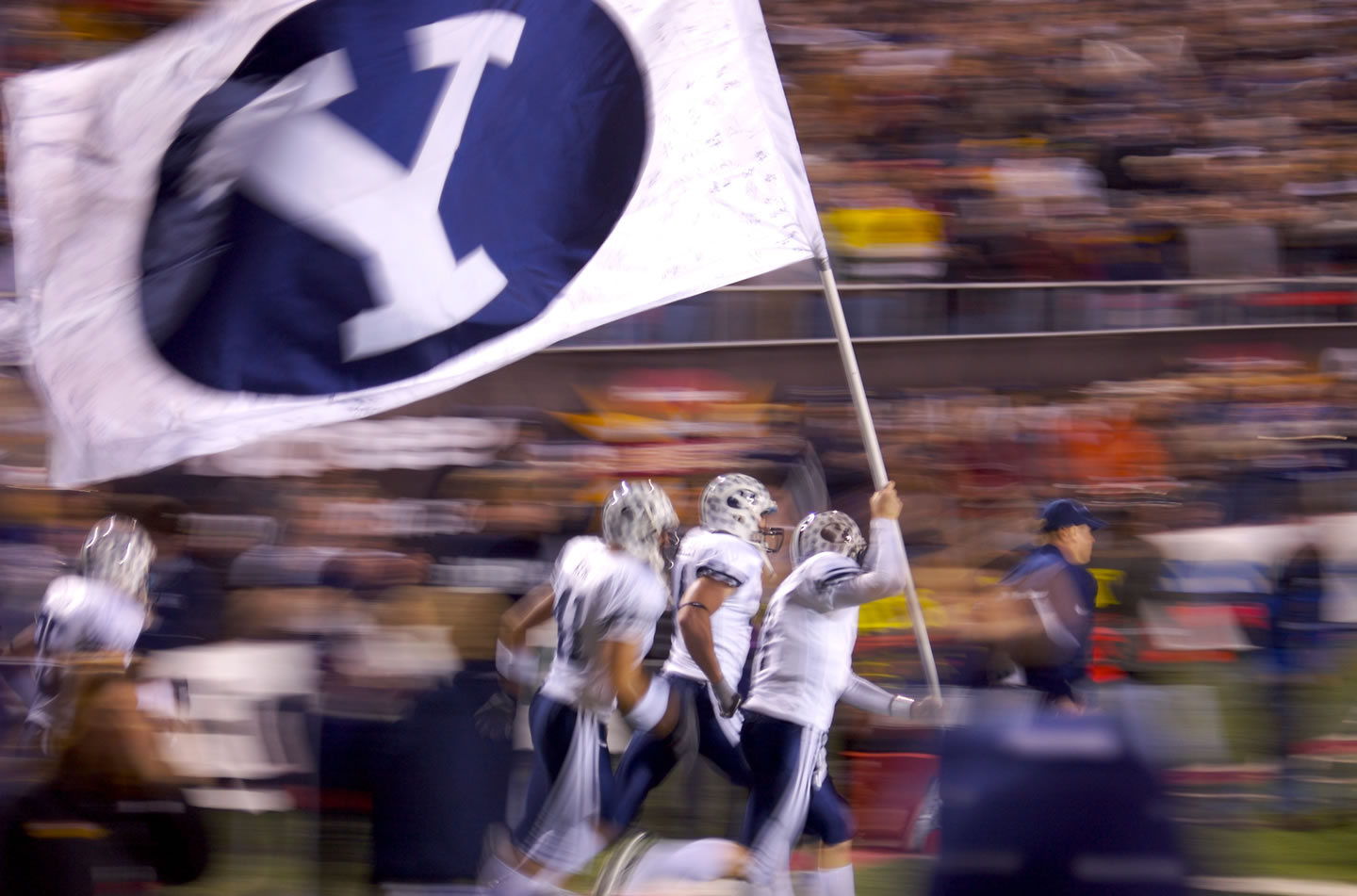 BYU Football Storms the Field at the Las Vegas Bowl