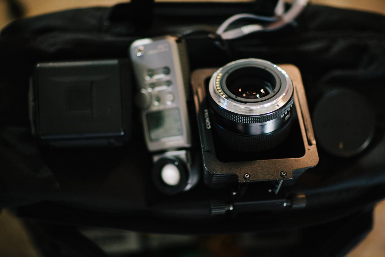 Inside the photo bag