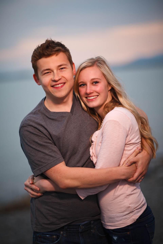 Photographing a couple on Utah Lake