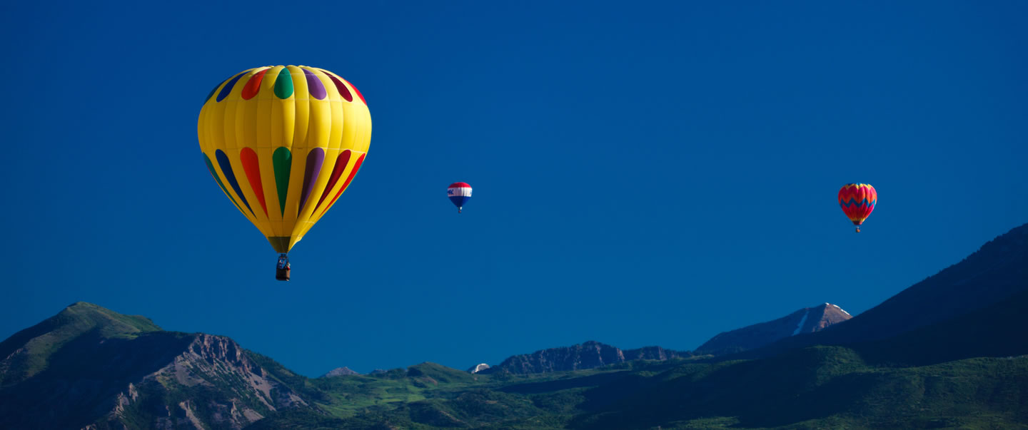 Hot air balloons at the Provo Freedom Festival