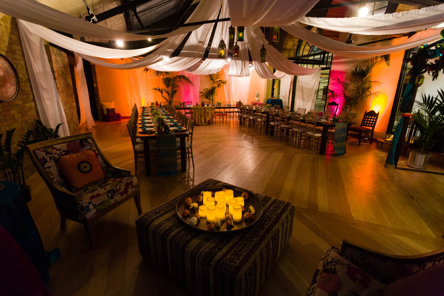 Decorated to the Indian style wedding theme