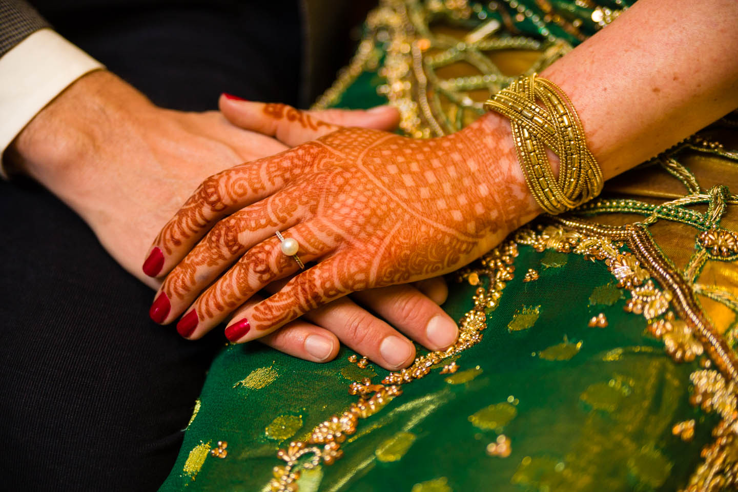 Mehndi Hands With Engagement Ring : Indian style wedding hosted at trolley square in slc dav