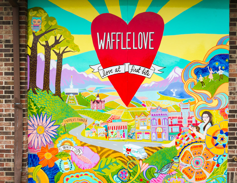Waffle Love in Provo, Utah