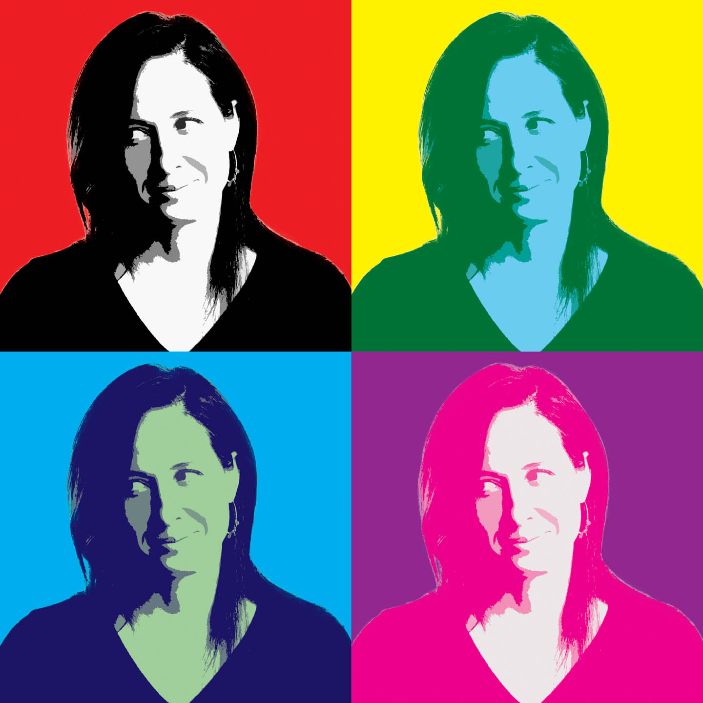 Andy Warhol style portrait