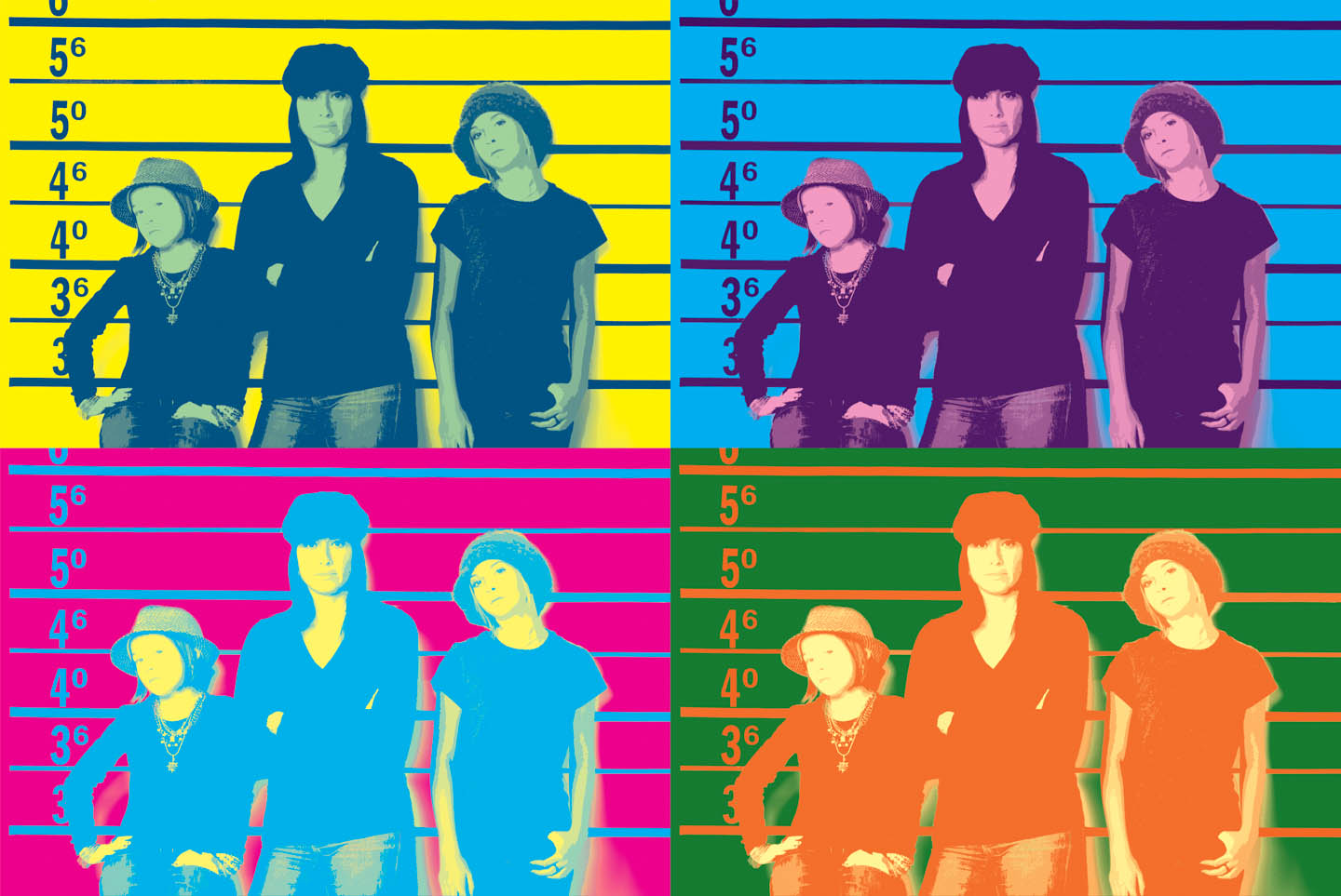 Andy Warhol portrait meets the police lineup