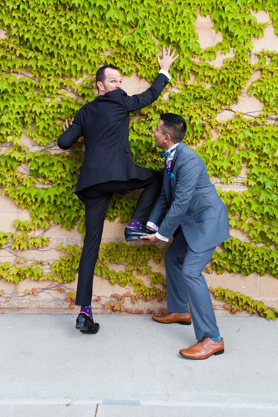 Grooms decide to elope or just have fun with portraits