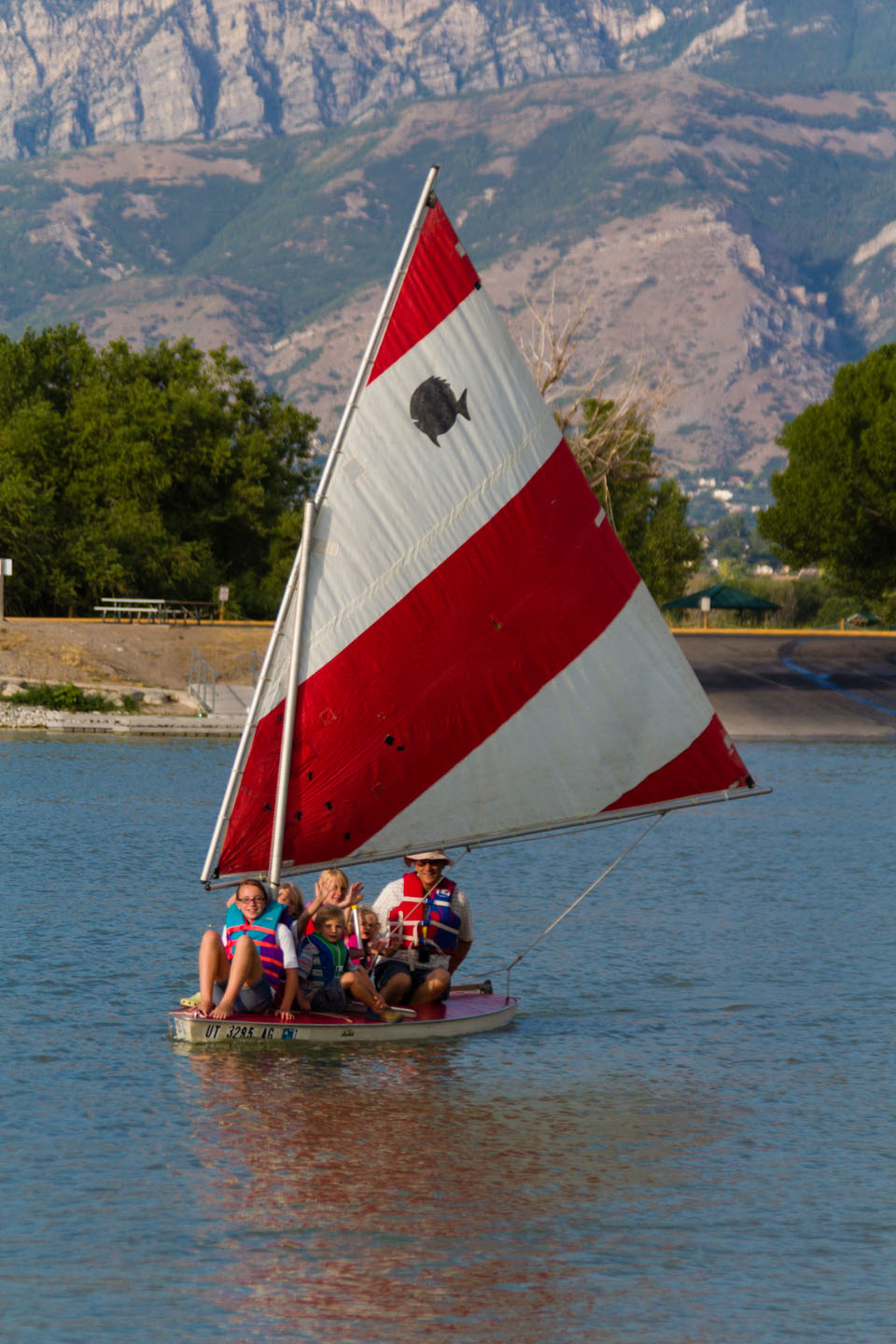 Sailing with the grandkids on Utah Lake