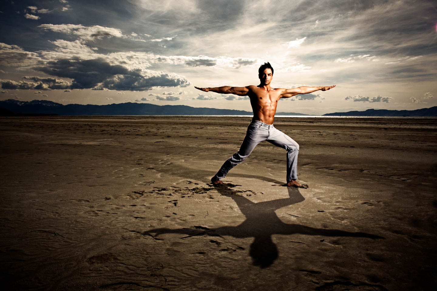 Yoga on the Great Salt Lake with Graham