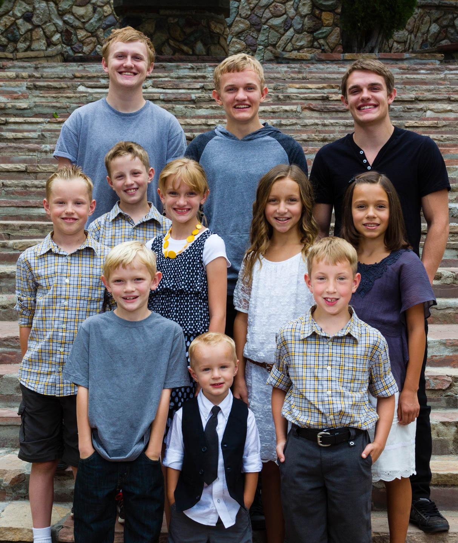 All the grandkids pose