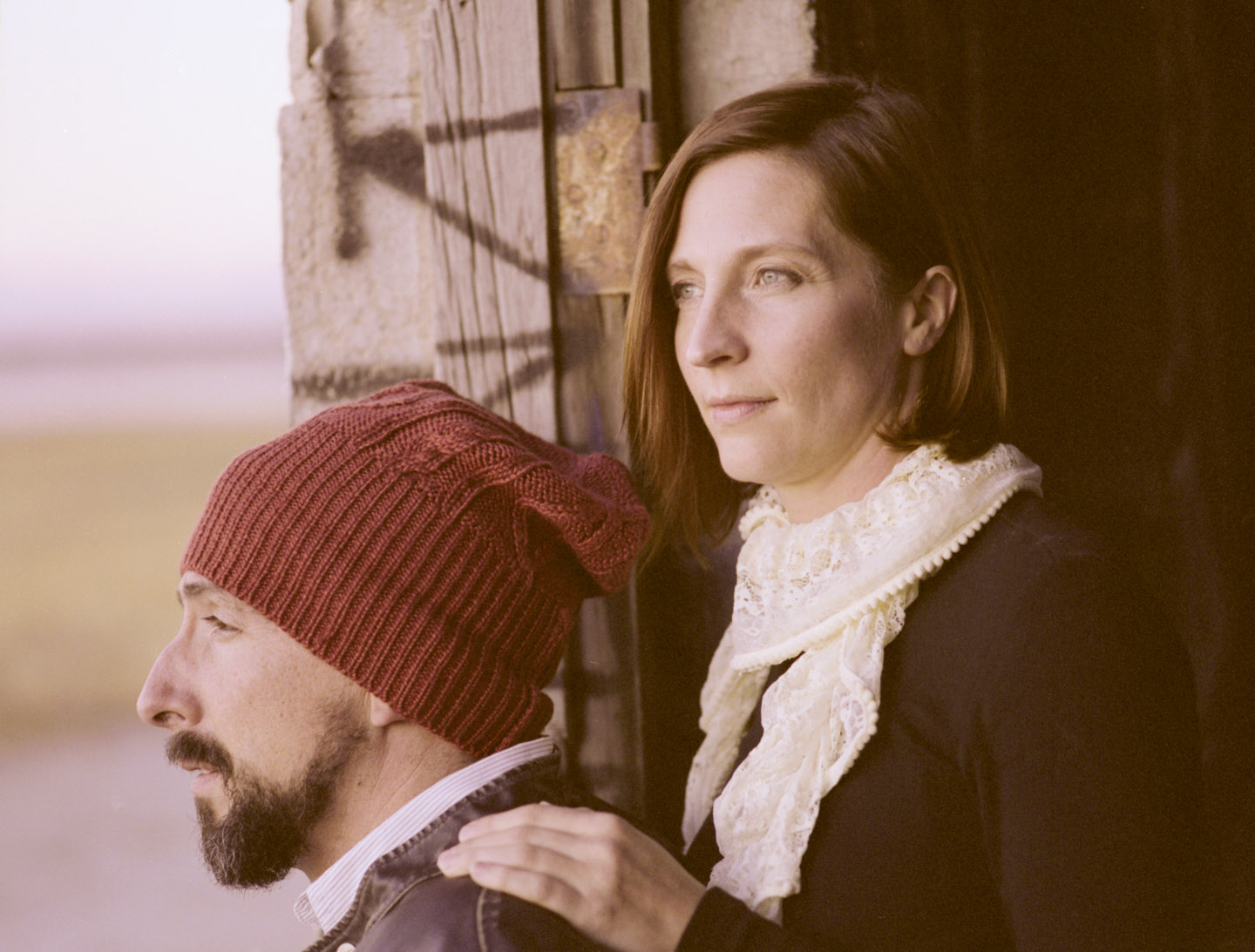 Husband and wife on medium format film