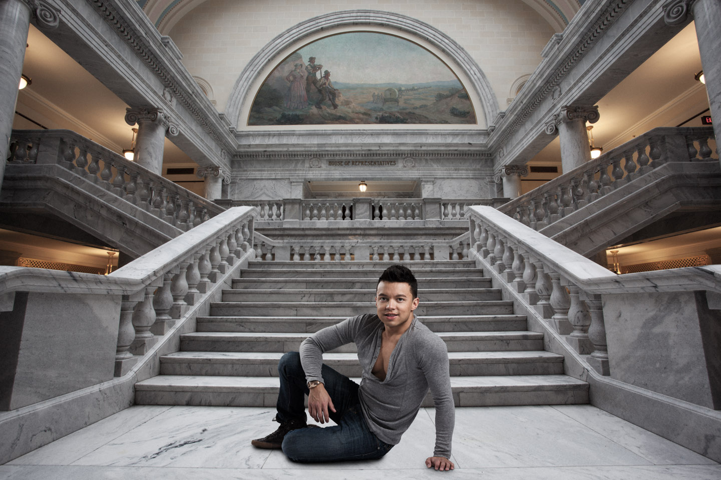 Julio at the Utah State Capitol