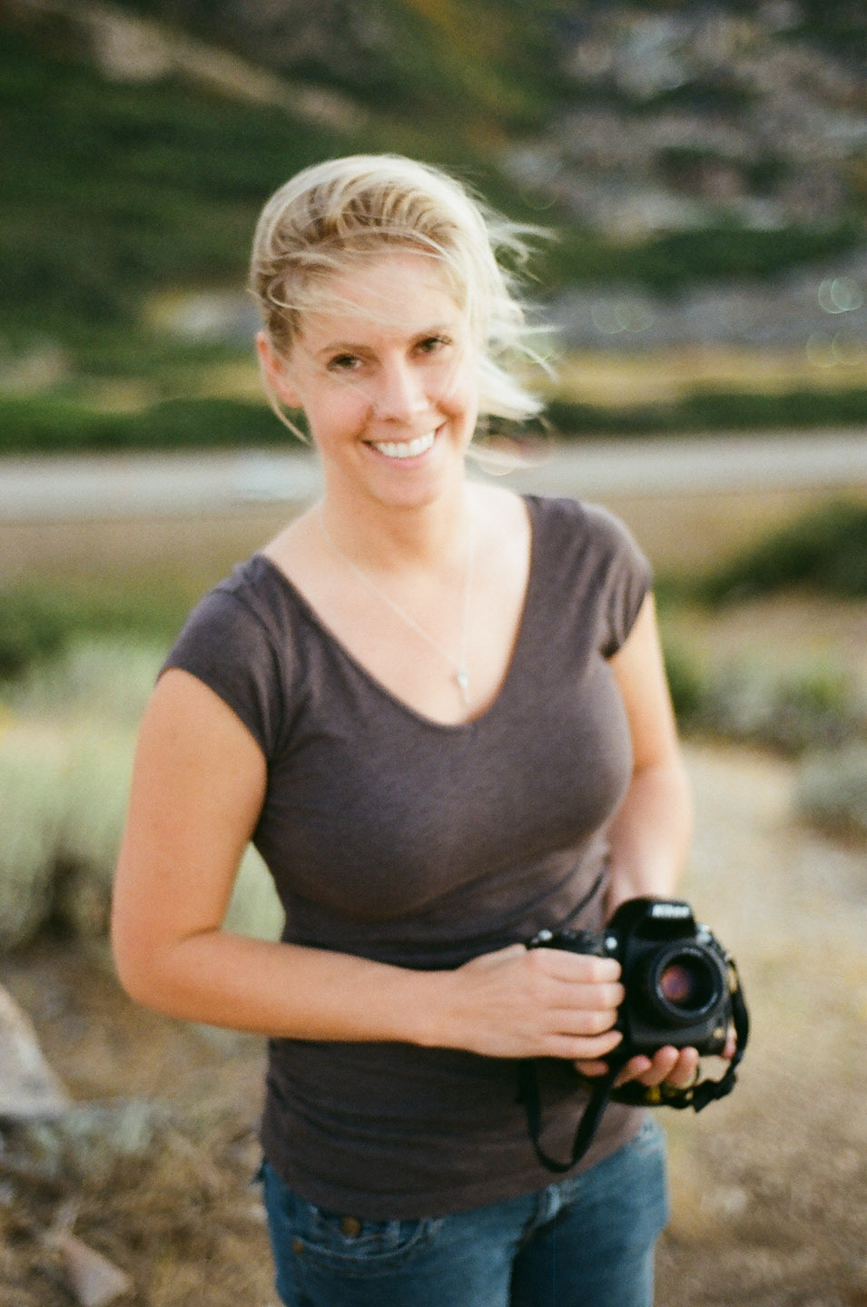 Photographer on 35mm color film