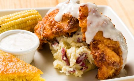 Southern Fried Chicken Dinner with gravy
