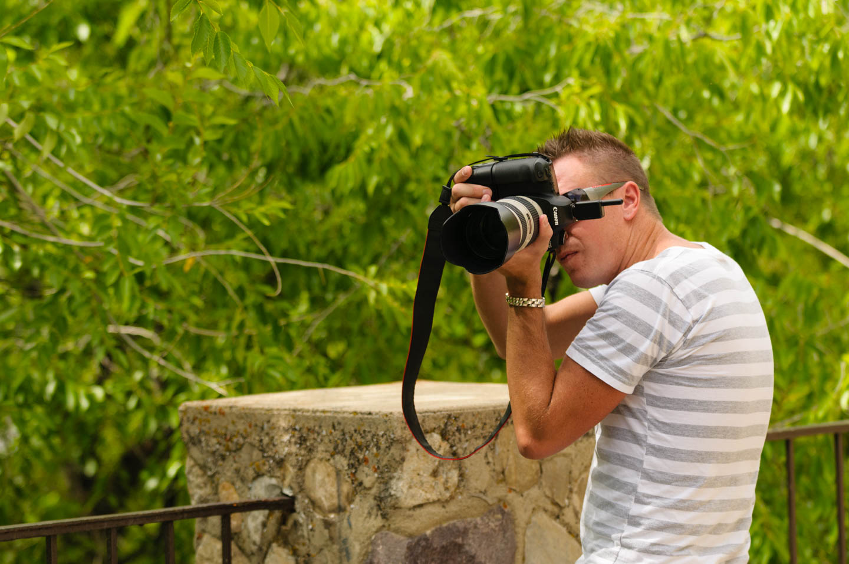 Brian photographs