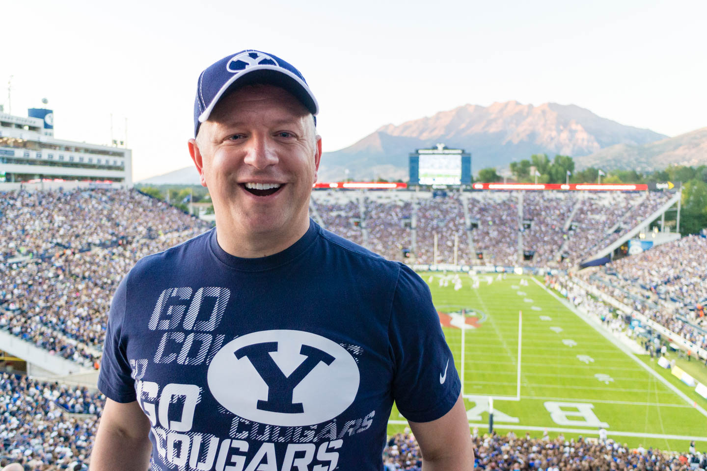 dav.d at BYU's first home game this year against Houston