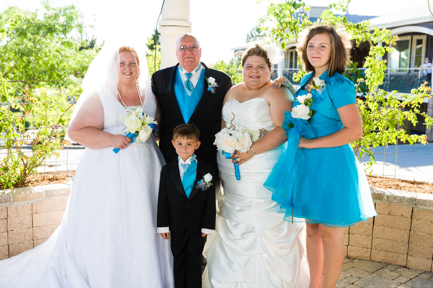 Family group photos after the wedding